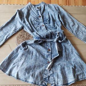 NEW Summery thin button-up stonewashed dress